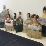 Segunda vida para las brochas viejas como damas de cuadros famosos