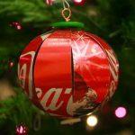15 bolas de material reciclado para decorar árbol de navidad