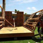 Cómo construir una casa de palets