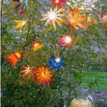 Luces de flores hechas con botellas de plástico para jardín, terrazas o patios