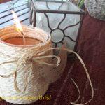 Cómo hacer velas ecológicas con aceite usado en frasco de cristal reciclado