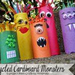 Ideas creativas para reciclar tubos de cartón de papel higiénico o cocina para halloween 2016