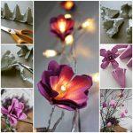 Cómo hacer flores de hadas iluminadas con cartón de huevos