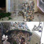 Casas de hadas realizadas con botellas de plástico recicladas