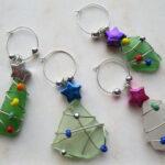 Adornos navideños hechos con cristales marinos reciclados II